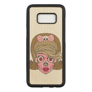 Girly Sugar Skull Carved Samsung Galaxy S8 Case