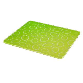 girly summer fresh green yellow lemon pattern boards