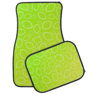 girly summer fresh green yellow lemon pattern car mat