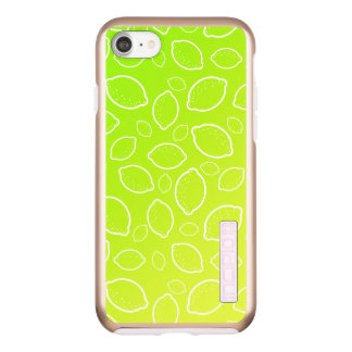 girly summer fresh green yellow lemon pattern incipio DualPro shine iPhone 8/7 case