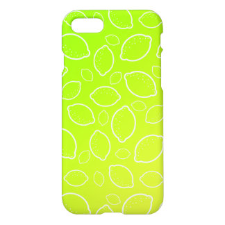 girly summer fresh green yellow lemon pattern iPhone 8/7 case