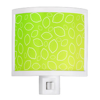 girly summer fresh green yellow lemon pattern night lights