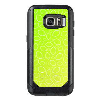 girly summer fresh green yellow lemon pattern OtterBox samsung galaxy s7 case