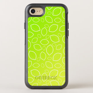 girly summer fresh green yellow lemon pattern OtterBox symmetry iPhone 8/7 case
