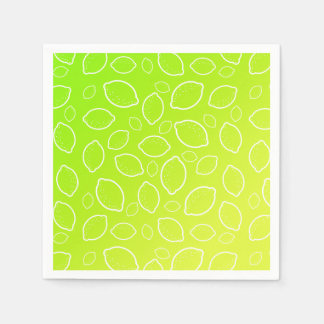 girly summer fresh green yellow lemon pattern paper napkins