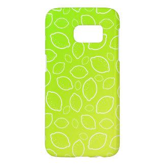 girly summer fresh green yellow lemon pattern samsung galaxy s7 case
