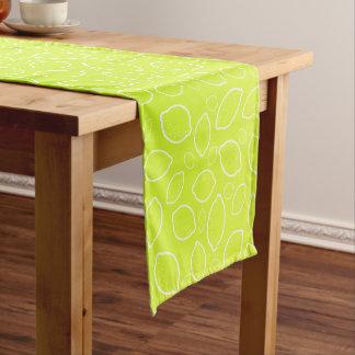 girly summer fresh green yellow lemon pattern short table runner