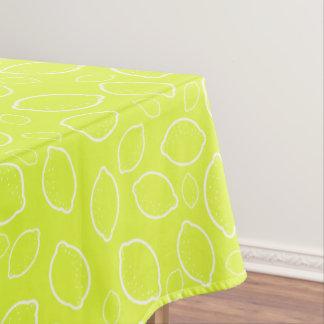 girly summer fresh green yellow lemon pattern tablecloth