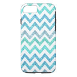 Girly Summer Sea Teal Turquoise Glitter Chevron iPhone 7 Case