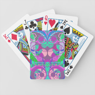 girly swirls abstract pattern bicycle playing cards