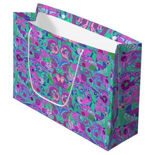 girly swirls gift bag