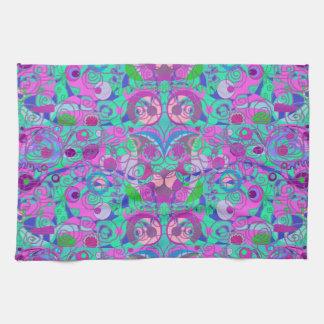 girly swirls tea towel