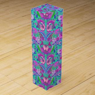 girly swirls wine box
