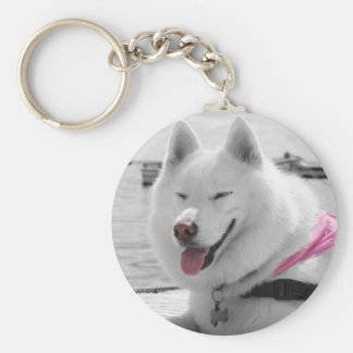 Girly Tehya Basic Round Button Keychain