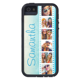 Girly Trendy Blue Grunge Xtreme iPhone 5 Case