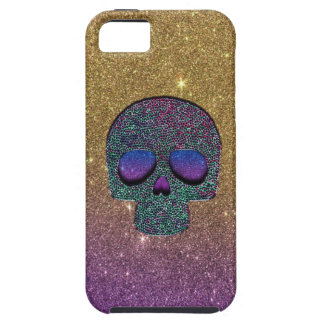 Girly Trendy Faux Glitter Skull iPhone 5 Case