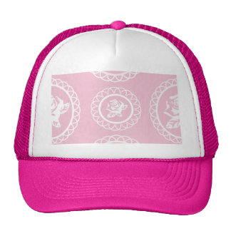 Girly,trendy,pink,roses,floral,pattern,modern,chic Trucker Hat