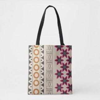 Girly Tribal Floral Bohemian Beach Tote Bag