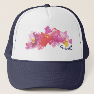 Girly Trucker Hat with flowers