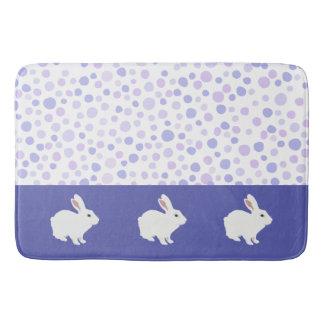 Girly Tulip Purple Polka Dots Bath Mat