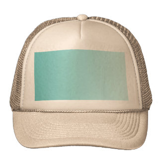 Girly Turquoise Gradient Mesh Hats