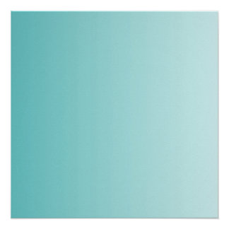 Girly Turquoise Gradient Poster