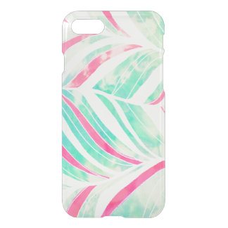 Girly Turquoise Pink Watercolor hand drawn pattern iPhone 8/7 Case
