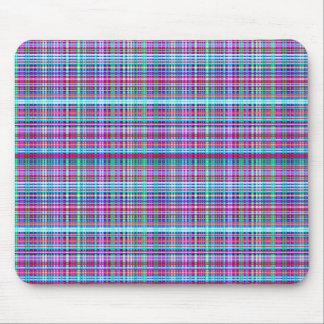 Girly Unique Flannel Plaid Design Mouse Pad