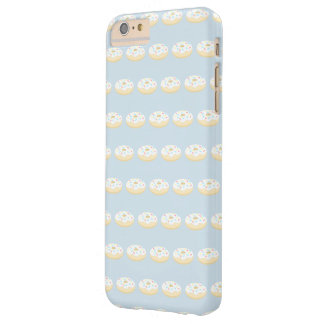 Girly Vanilla Donut Pattern Barely There iPhone 6 Plus Case