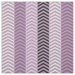 Girly Variegated Purple Chevron Stripes Pattern Fabric