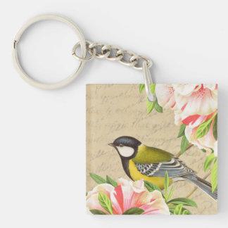 Girly Vintage bird keychain