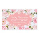 Girly Vintage Floral Pink Roses Peony Personalized