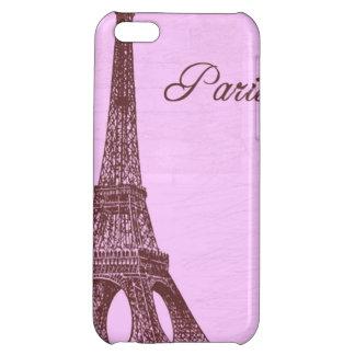 Girly Vintage Pink Paris iPhone 5C Cases