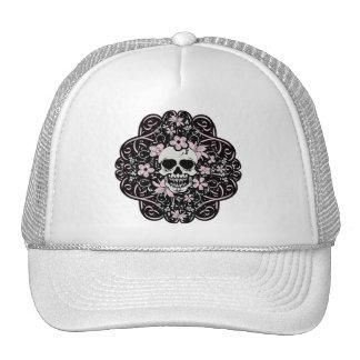 Girly Vintage Skull Trucker Hat