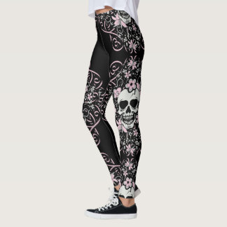 Girly Vintage Skull Leggings