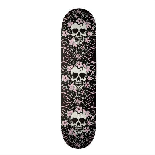 Girly Vintage Skull Skateboard
