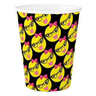 Girly Winking Emoji Paper Cup