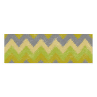 Girly Yellow and Gray Bohemian Chevron Pattern Pack Of Skinny Business Cards