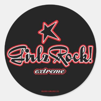 GirlzRock! Extreme Logo Classic Round Sticker