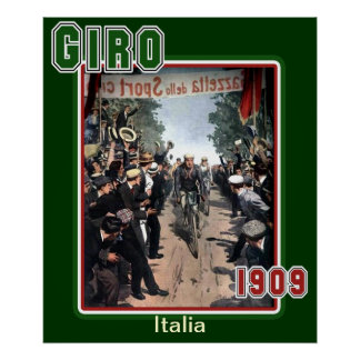 Giro 1909 Vintage Cycling Sports Fan Posters