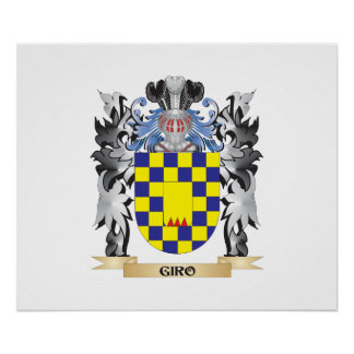 Giro Coat of Arms - Family Crest Poster