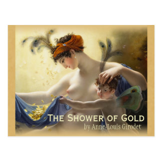 Girodet Shower of Gold CC0680 Postcard