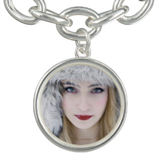 GiRound Charm Bracelet, Silver Plated. Snow Queen.