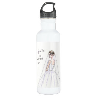 """Giselle: I will haunt you"" Ballet inspired bottle"