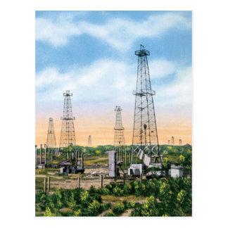 Gisements de pétrole cartes postales