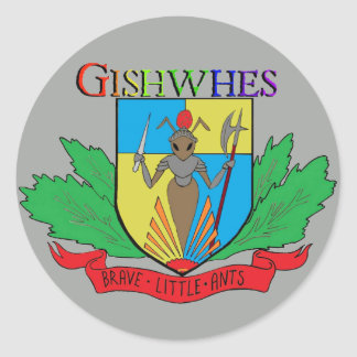 Gishwhes Brave Little Ants stickers grey