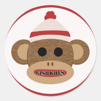 GISHWHES Sock Monkey sticker