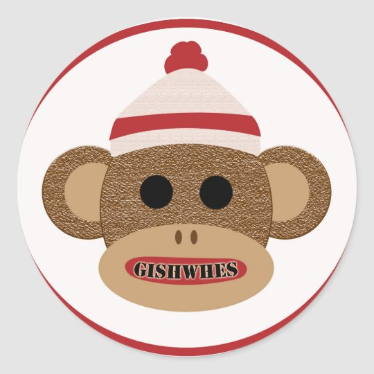 GISHWHES Sock Monkey sticker
