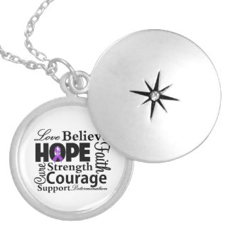 GIST Cancer Collage of Hope Round Locket Necklace