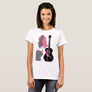 Gitar girl on ladies shirt